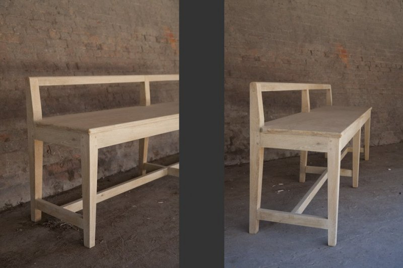 Bench With Low Back Solid Oak Products St Paul Home